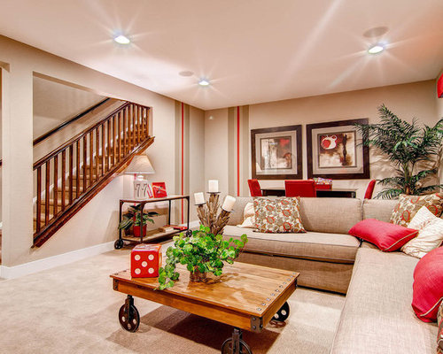 Basement Living Room Captivating Basement Living Room  Houzz