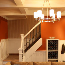 Traditional Basement by Redbud Construction Services