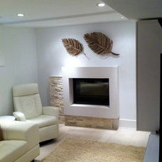 Contemporary Basement by Bravehart Design Build