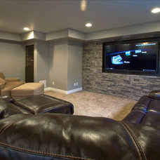 Traditional Basement by Aspen Builders