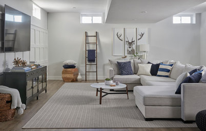 Room of the Day: A Stylish Basement With Zones for Everyone