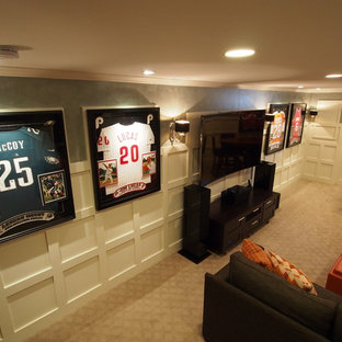 Inspiration for a timeless basement remodel in New York