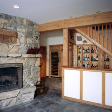 Traditional Basement by Habitat Post & Beam, Inc.