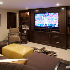 Traditional Basement by Susan Brunstrum of SWEET PEAS DESIGN INC