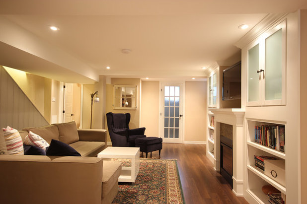 Traditional Basement by OakWood Designers & Builders