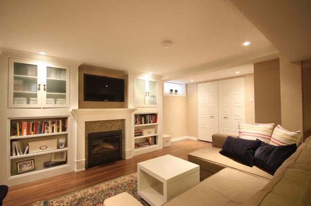 Traditional Basement by OakWood Renovation Experts