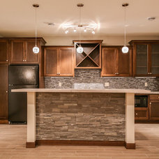 Transitional Basement by LDK Homes
