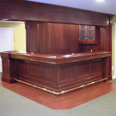 Traditional Basement by Sunrise Custom Woodworking