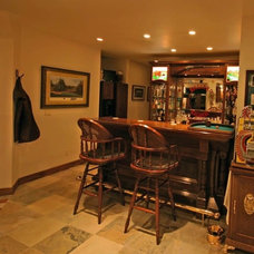 Traditional Basement by Anything Wood