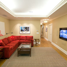 Contemporary Basement by Dave Tilly & Associates LLC