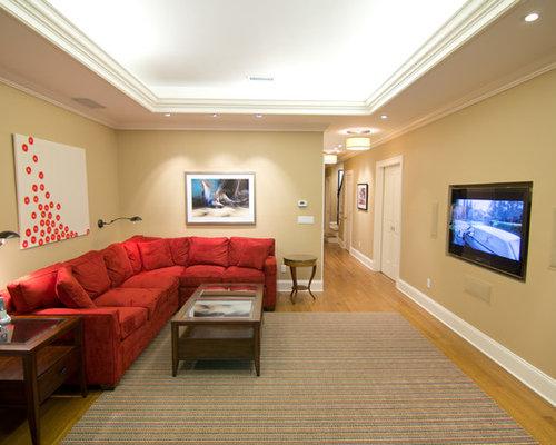 Long narrow room basement design ideas pictures remodel for Long narrow basement design solution