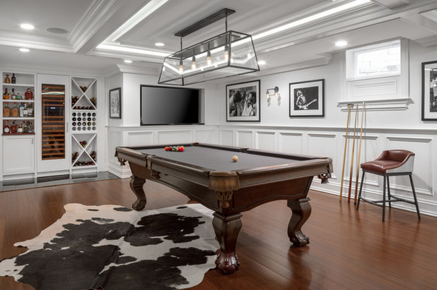 Farmhouse Basement by kelly mcguill home