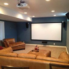 Traditional Basement by Complete Custom Homes