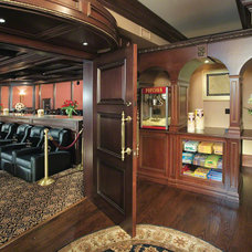 Traditional Basement Home Theaters