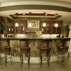 Contemporary Basement by Robert Lucke Homes