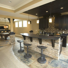 Traditional Basement by Kimberly Fox Designs
