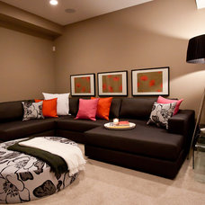 Contemporary Family Room by Natalie Fuglestveit Interior Design