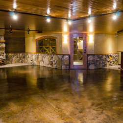 rustic hot tub basement design ideas pictures remodel and decor