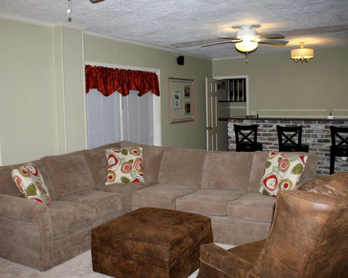 Inspiration for a timeless basement remodel in Birmingham : rowe brentwood sectional - Sectionals, Sofas & Couches
