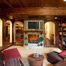 Traditional Basement by W.V. de Stefano Homes, LLC