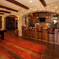 traditional basement by W.V. de Stefano Homes, LLC