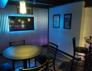 Industrial Basement Bar/Wine Lounge