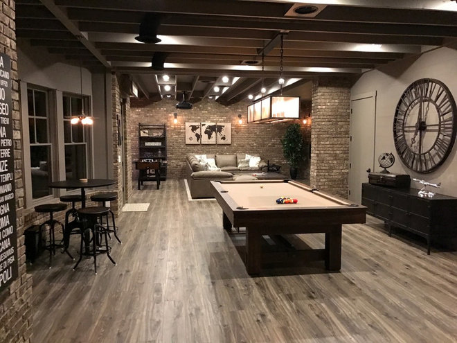 Room Of The Day This Basement Is Like A Night Out On The
