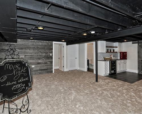 best industrial basement design ideas remodel pictures houzz
