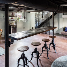 Ryan Duebber Architect LLC Sometimes Gathering Is More About Small Groups Standing Around A Bar Catching Up In The Basement I Wanted To Float So