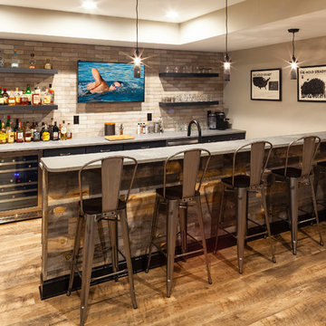 Industrial Style Basement Remodel