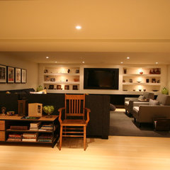 contemporary basement by Interior Works Inc