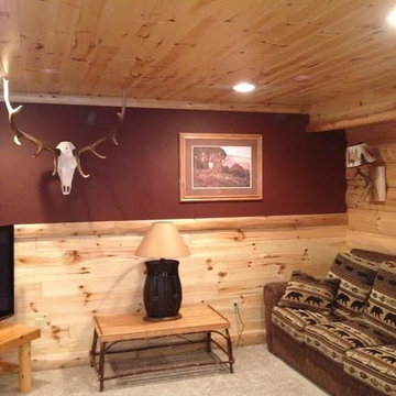 interior pictures of log paneling, and log siding