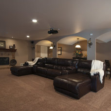 Traditional Basement by J.S. Brown & Co.