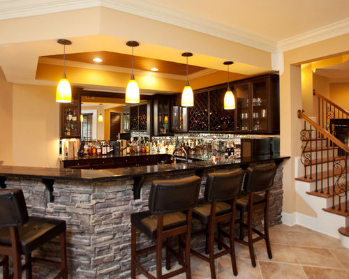 stone bar front home design ideas pictures remodel and decor. Black Bedroom Furniture Sets. Home Design Ideas