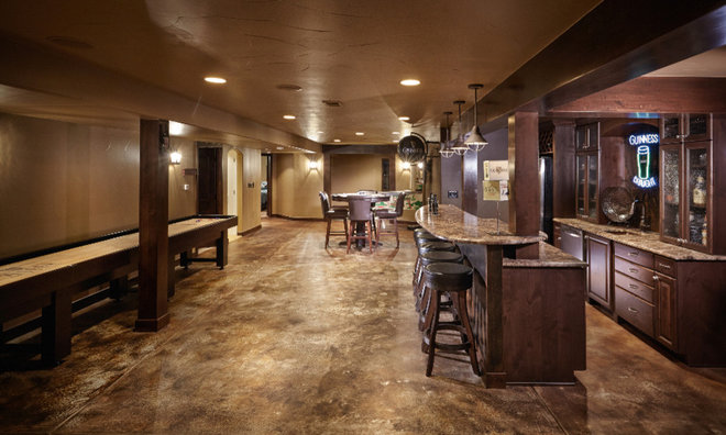 Traditional Basement by HighCraft Builders