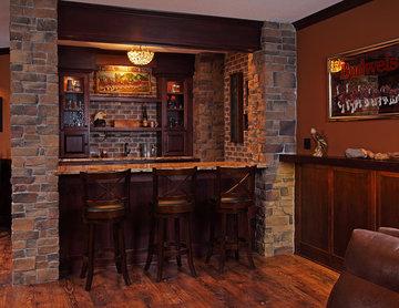 Irish Pub Style Basement Finish