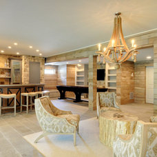 Beach Style Basement by John Willis Homes