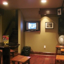 Traditional Basement by P. L. Johnson Construction, Inc.