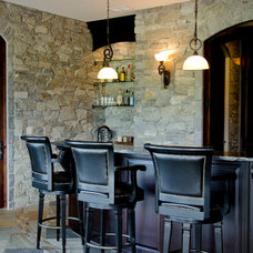 Traditional Basement by K2 Stone Quarries