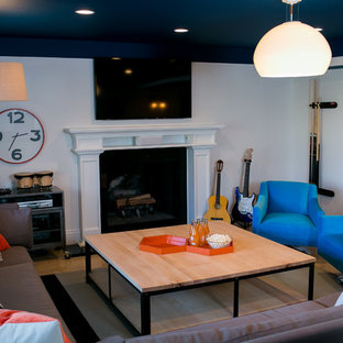 Inspiration for a modern basement remodel in DC Metro