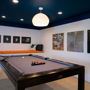 Example of a minimalist basement design in DC Metro