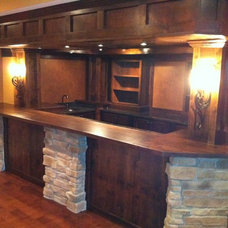 Craftsman Basement by Dream Design of Indiana