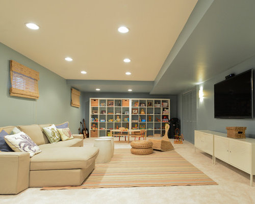 Basement Wall Colors Houzz