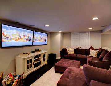 Kid and Adult Friendly Basement Gameroom