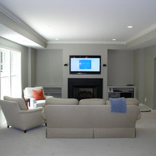 Modern Basement by Phoenix Renovations