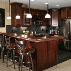 Traditional Basement by DB Klain Construction, LLC