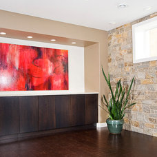 Contemporary Basement by Within Licensed Interior Design Inc.