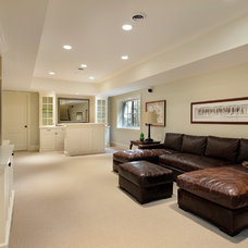 Traditional Basement by Fieldcrest Builders Inc