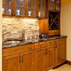 Traditional Basement by L.EvansDesignGroup,inc
