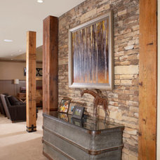 Rustic Basement by The Norwood Group